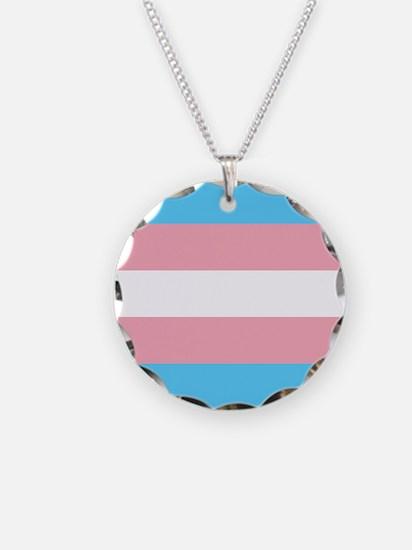 Transgender Pride Flag Necklace