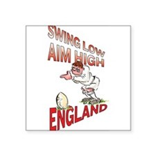 "Unique England rugby Square Sticker 3"" x 3"""