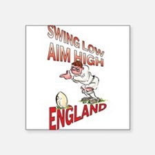 "Unique England rugby Square Sticker 3"" x 3"""