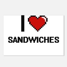 I Love Sandwiches Digital Postcards (Package of 8)