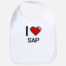 I Love Sap Digital Design Bib