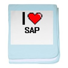 I Love Sap Digital Design baby blanket
