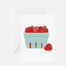 Strawberries Basket Greeting Cards