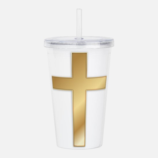crossgold2.png Acrylic Double-wall Tumbler
