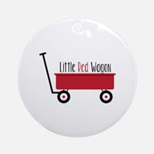 Little Red Wagon Round Ornament