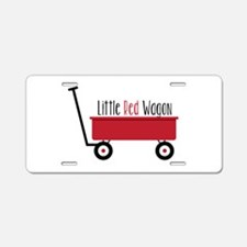 Little Red Wagon Aluminum License Plate