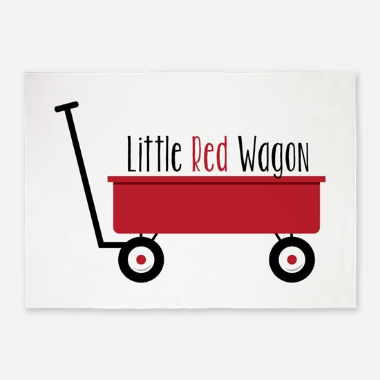 Little Red Wagon 5'x7'Area Rug