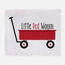 Little Red Wagon Throw Blanket