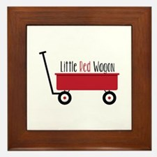 Little Red Wagon Framed Tile