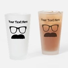 Custom Chevron Mustache Face Drinking Glass