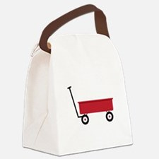 Red Wagon Canvas Lunch Bag