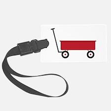 Red Wagon Luggage Tag
