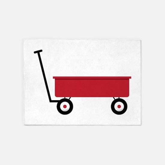 Red Wagon 5'x7'Area Rug