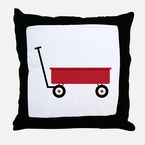 Red Wagon Throw Pillow