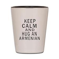 Keep Calm And Armenian Designs Shot Glass