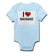 I Love Sausage Digital Design Body Suit
