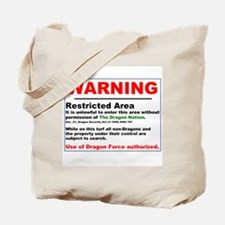 Dragon Force Warning Tote Bag