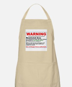 Dragon Force Warning BBQ Apron
