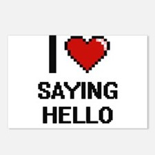 I Love Saying Hello Digit Postcards (Package of 8)