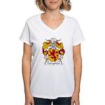 Carcasona Family Crest Women's V-Neck T-Shirt