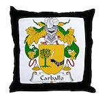 Carballo Family Crest  Throw Pillow