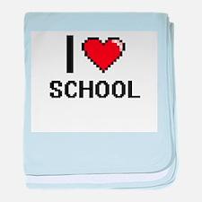 I Love School Digital Design baby blanket