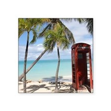 Red public Telephone Booth on Antigua Sticker