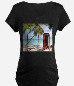 Red public Telephone Booth on An Maternity T-Shirt