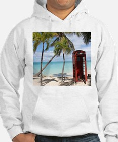 Red public Telephone Booth on An Hoodie