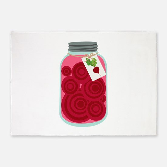 Pickled Beets 5'x7'Area Rug