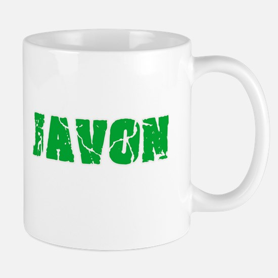 Javon Name Weathered Green Design Mugs