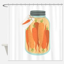 Pickled Carrots Shower Curtain