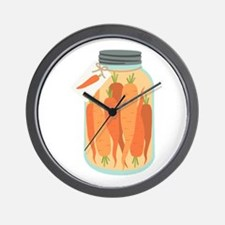 Pickled Carrots Wall Clock