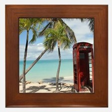 Red public Telephone Booth on Antigua Framed Tile