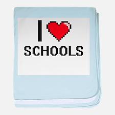 I Love Schools Digital Design baby blanket
