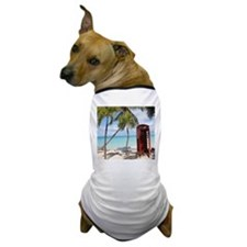 Red public Telephone Booth on Antigua Dog T-Shirt