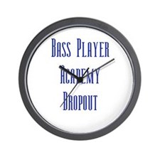 Bass Player Academy Dropout Wall Clock