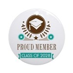 class of 2028 Round Ornament