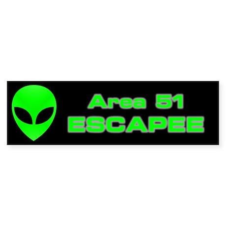 Area 51 Escapee Sticker (Bumper)