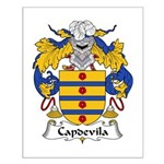 Capdevila Family Crest Small Poster