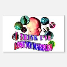 I Think I've Lost My Marbles Sticker (Rectangular