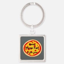 Personalized Pizza Fan Of the Year Keychains