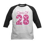 pink Class Of 2028 grad Baseball Jersey