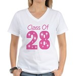 pink Class Of 2028 grad T-Shirt