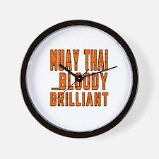 Muay Thai Bloody Brilliant Designs Wall Clock