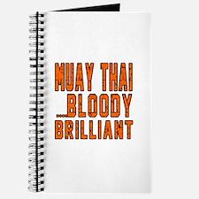 Muay Thai Bloody Brilliant Designs Journal