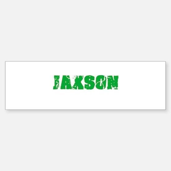 Jaxson Name Weathered Green Design Bumper Bumper Bumper Sticker
