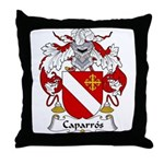 Caparros Family Crest Throw Pillow