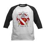 Caparros Family Crest Kids Baseball Jersey
