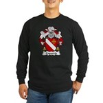 Caparros Family Crest Long Sleeve Dark T-Shirt